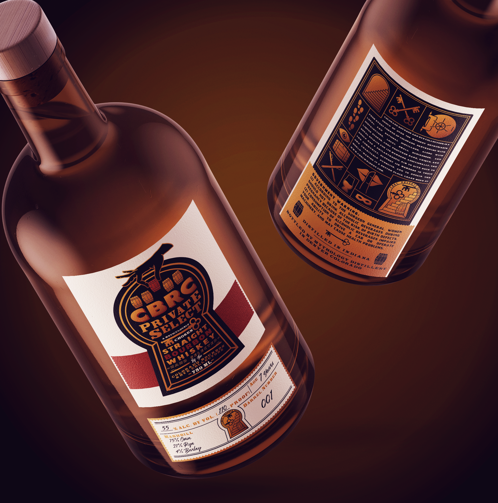 CBRC Private Select Whiskey Labels